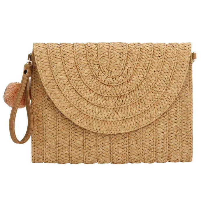 Straw Clutch Handbag