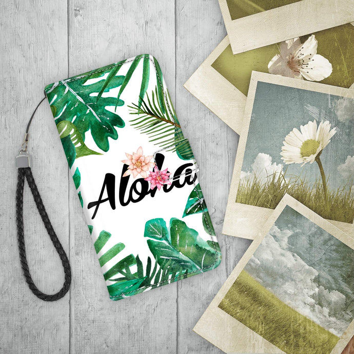 Aloha Flower Iphone Wallet Case