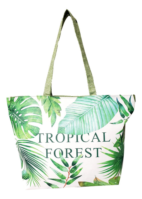 Tropical Forest Beach Tote Bag
