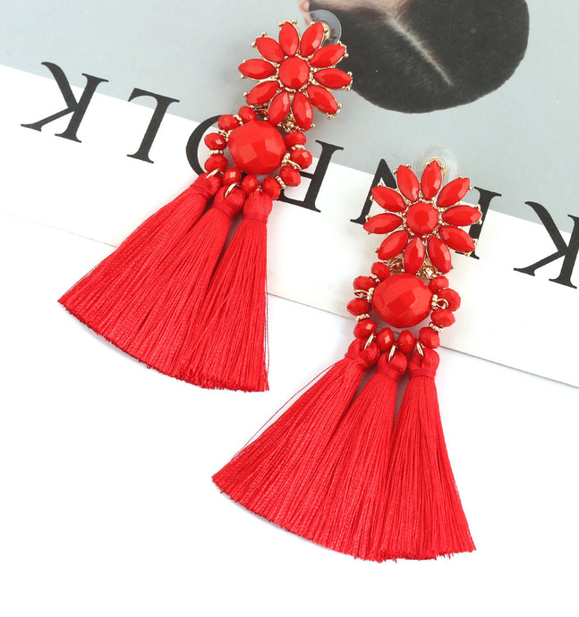 Tassel Chandelier Drop Dangle Earrings