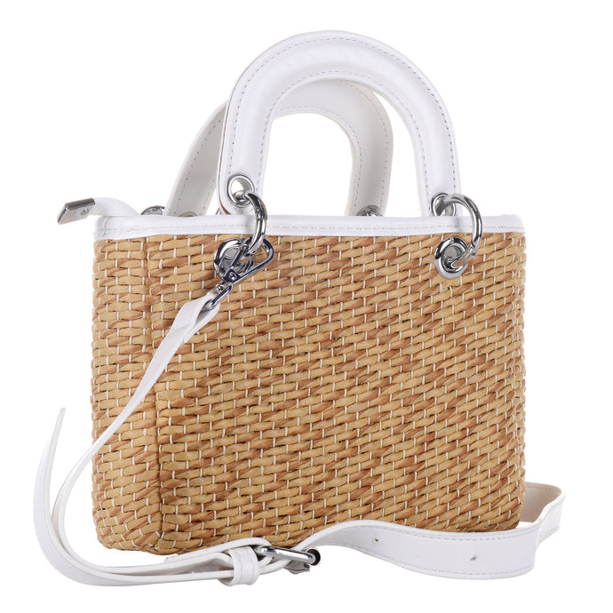Single Shoulder Straw Handbag
