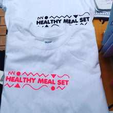 Load image into Gallery viewer, Healthy Meal Set screenprinted shirt