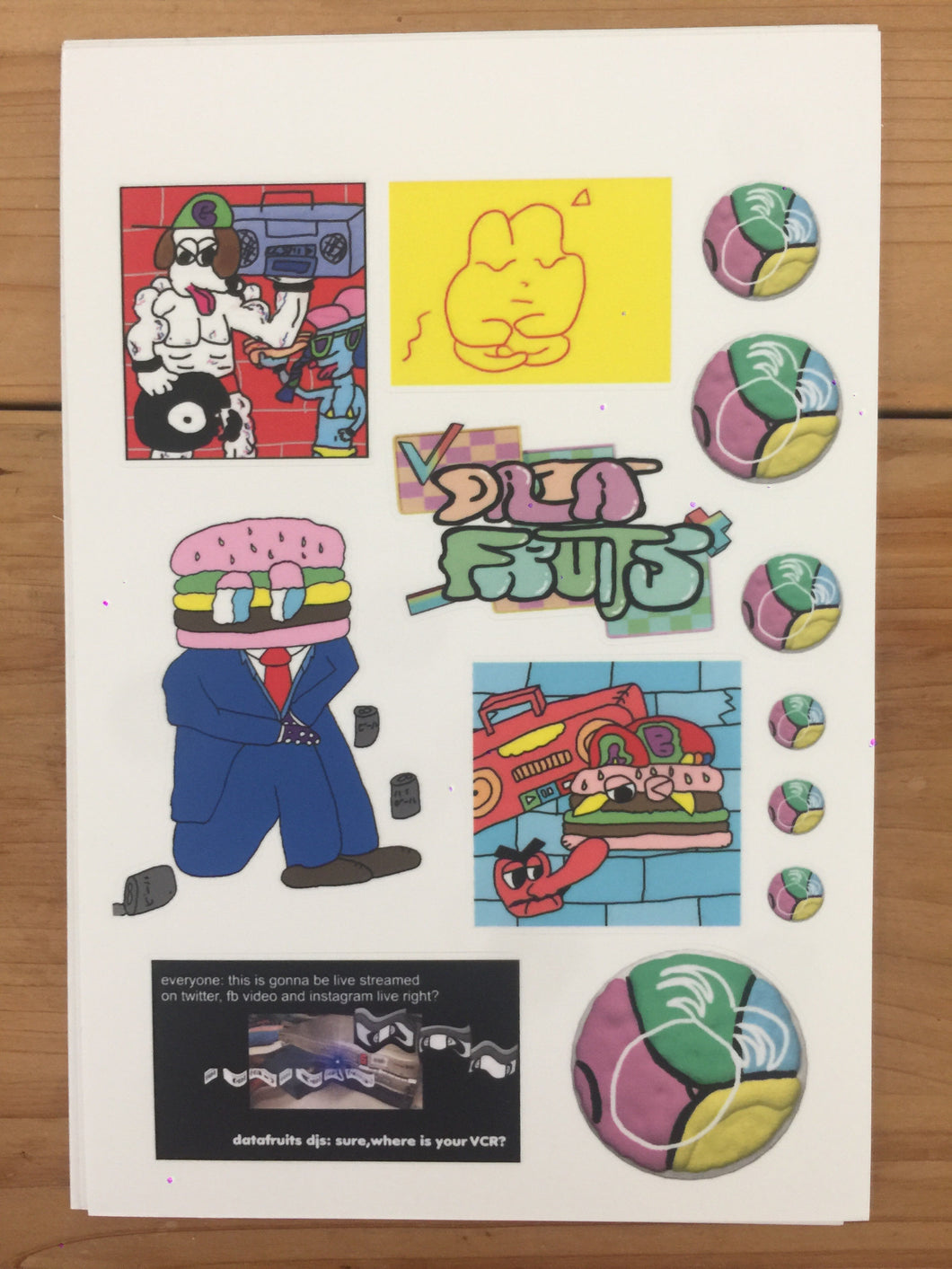 datafruitsmemes sticker sheet