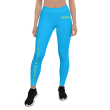 "Load image into Gallery viewer, ""datafruits blue"" leggings"