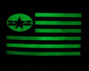 NO LAWS MOTORCYCLES USA FLAG HAT WITH PVC GID ( glow in the dark) PATCH FLEXFIT - No Laws® Brand