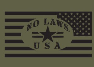 MOTORCYLES AND GUNS - GREEN - No Laws® Brand
