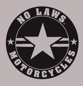 NO LAWS MOTORCYCLES ROUND - No Laws® Brand