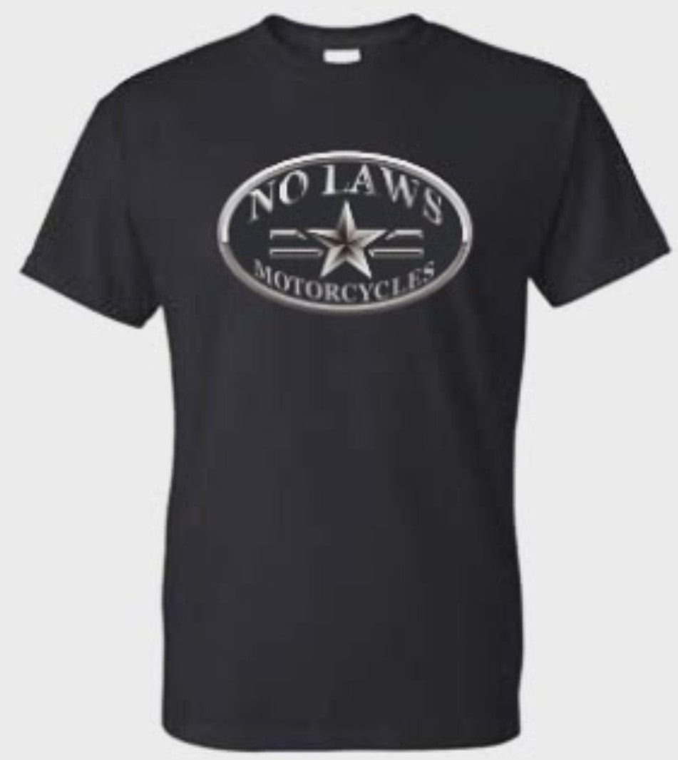 NO LAWS MOTORCYCLES OVAL