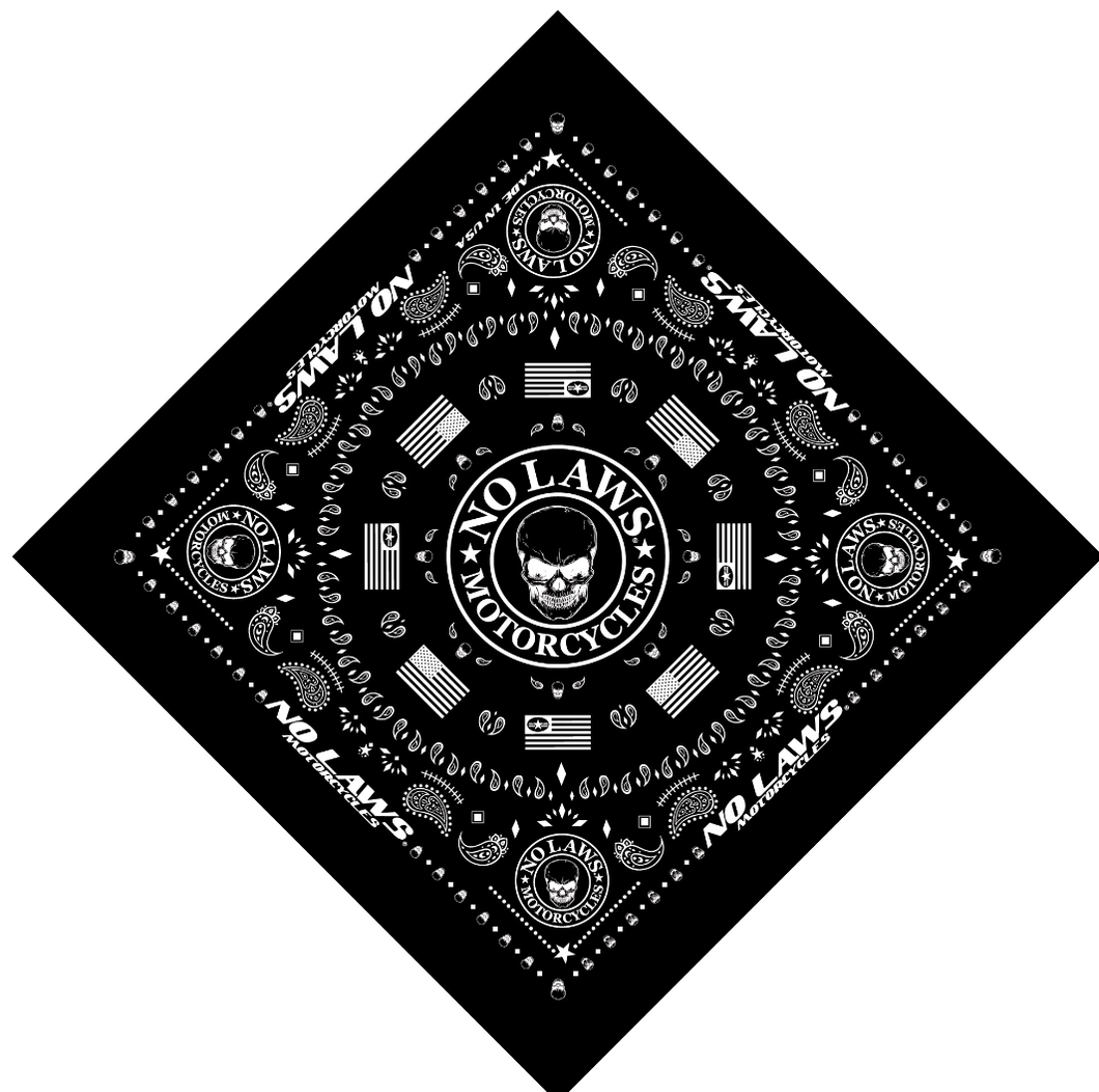 BANDANAS - MADE IN THE USA - NO LAWS MOTORCYCLES