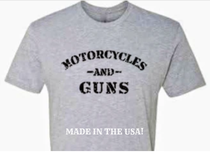 MOTORCYLES AND GUNS - GREY - NO LAWS MOTORCYCLES