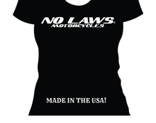 Load image into Gallery viewer, NO LAWS MOTORCYCLES - WOMAN - No Laws® Brand