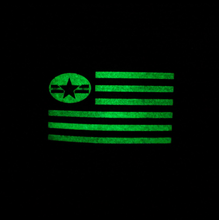 Load image into Gallery viewer, NO LAWS MOTORCYCLES USA FLAG HAT WITH PVC  GID (glow in the dark) PATCH - SNAP BACK - No Laws® Brand