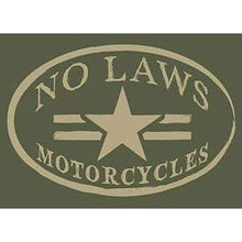 Load image into Gallery viewer, NO LAWS MOTORCYCLES OVAL - HEATHER GREEN - No Laws® Brand