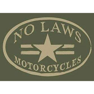 NO LAWS MOTORCYCLES HEATHER GREEN - No Laws® Brand
