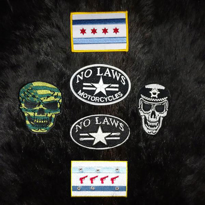 PATCHES - NO LAWS MOTO