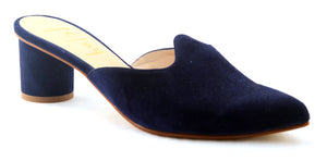 Heather Navy Suede