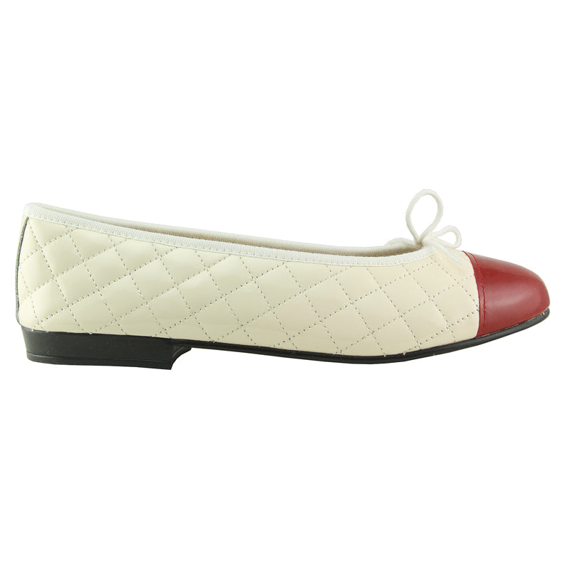 Heros - White/Red Patent