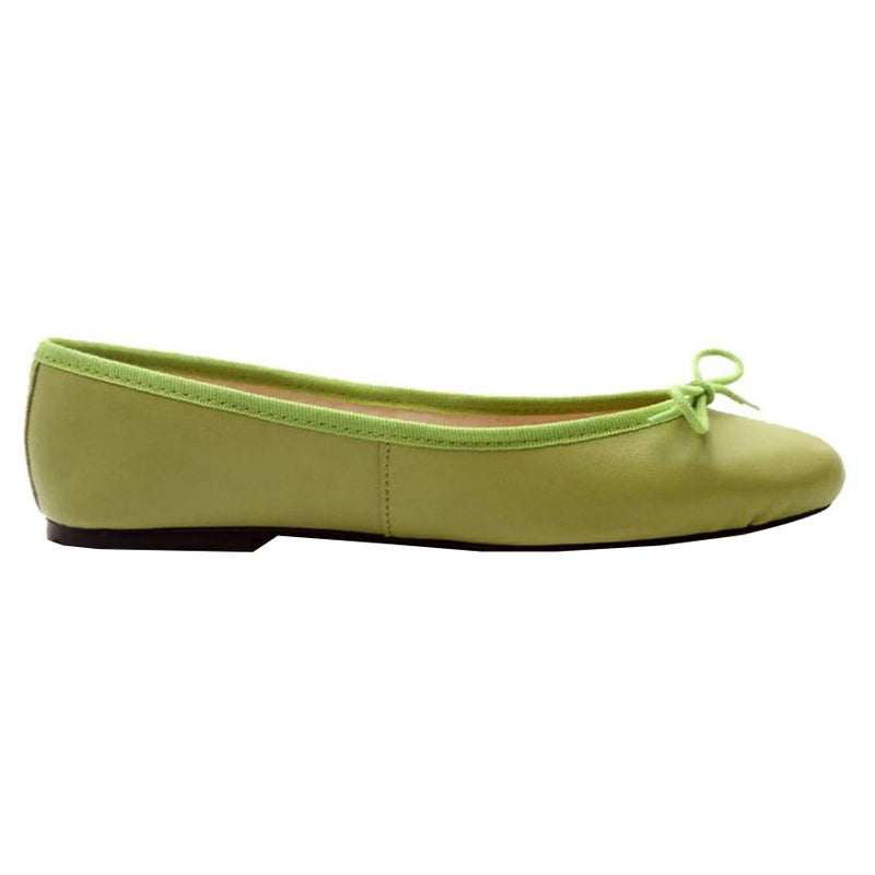 Zoe - Lime Leather