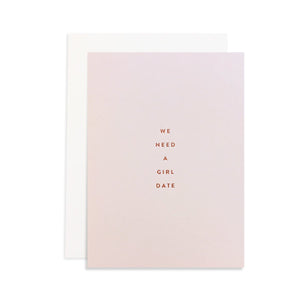 Girl Date Petite Friendship Card
