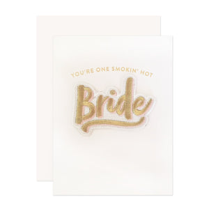 Bride Patch Wedding Card