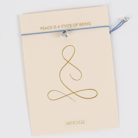 Peacebomb Jewelry - Mantra Bracelet: Peace is a State of Being