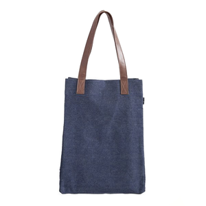 Indigo Denim Canvas Market Tote