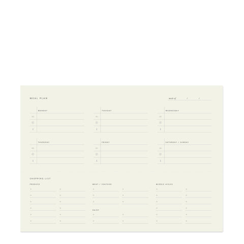 Weekly Meal Planner Notepad