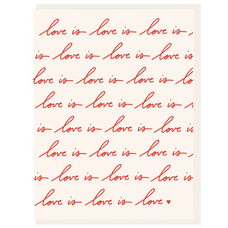 Love Is Love Letterpress Card