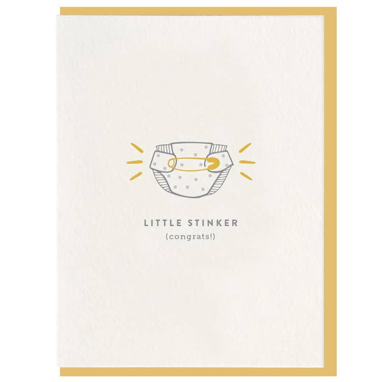 Little Stinker - Letterpress Card