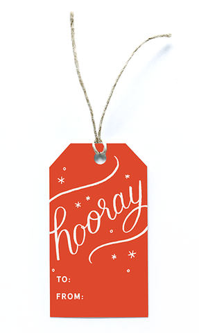 Paper Raven Co. - Holiday Hooray Gift Tags - Set of 8
