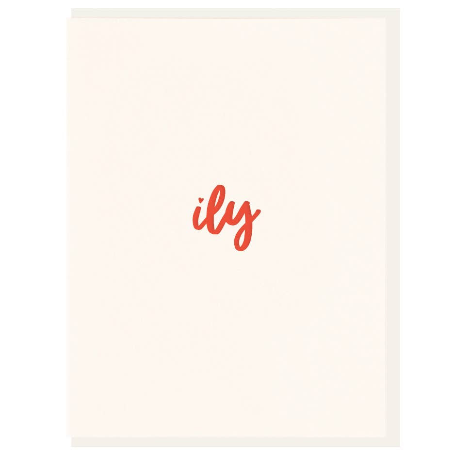 Dahlia Press - ily: i love you - Letterpress Card