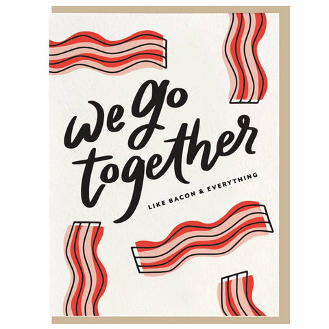 Bacon - Letterpress Card