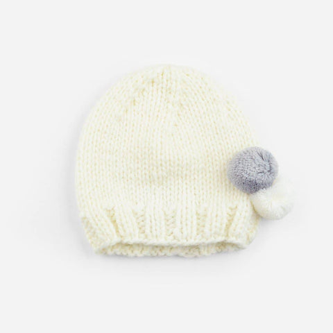 The Blueberry Hill - Tiny Poms Knit Hat, Gray
