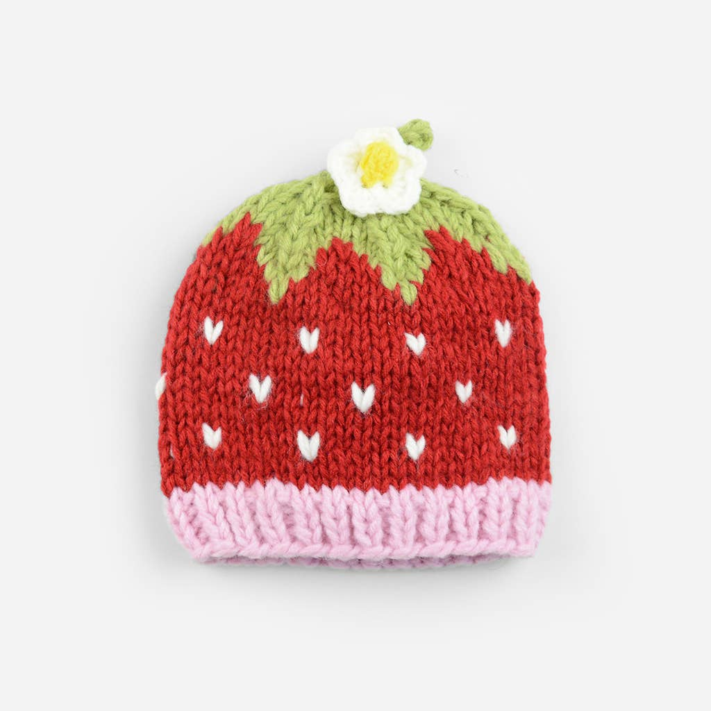 The Blueberry Hill - Addie Strawberry Knit Hat