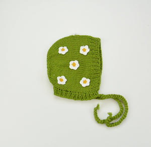 The Blueberry Hill - Cotton April Bonnet, Green