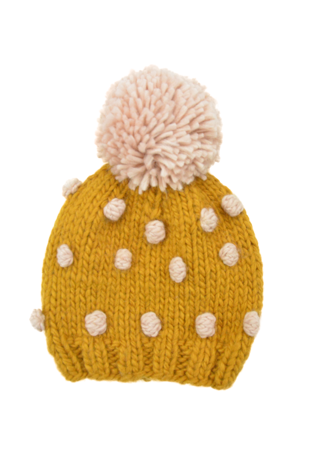 The Blueberry Hill - Popcorn Hat - Mustard and Pink