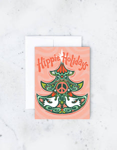 Hippie Holidays Card