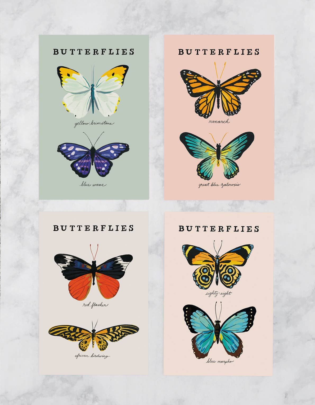 Butterfly Postcards - Set of 8