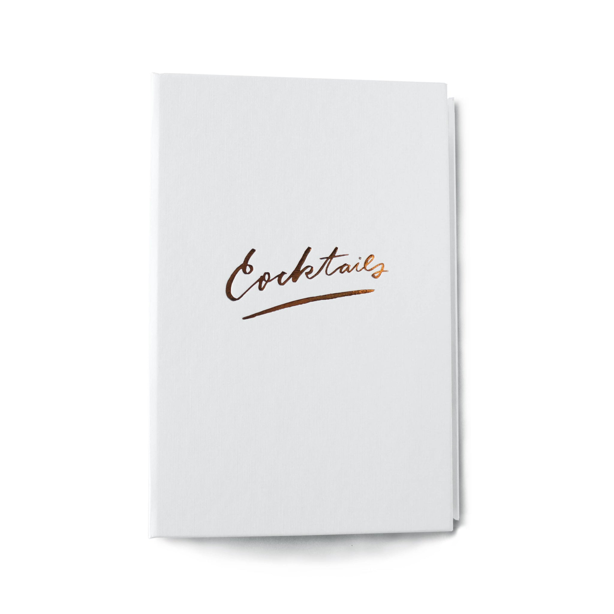Moglea - Cocktail Recipe Binder In White