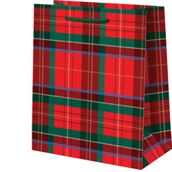 Tartan Plaid With Foil Medium Bag