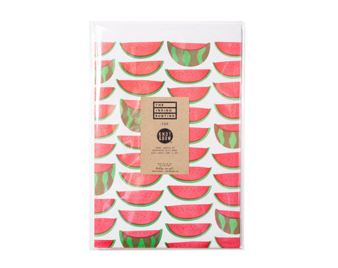 Knot & Bow - Watermelons Newsprint Gift Wrap