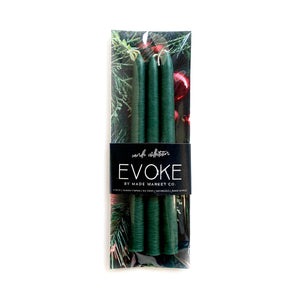 Christmas Green - Skinny Tapered Candles