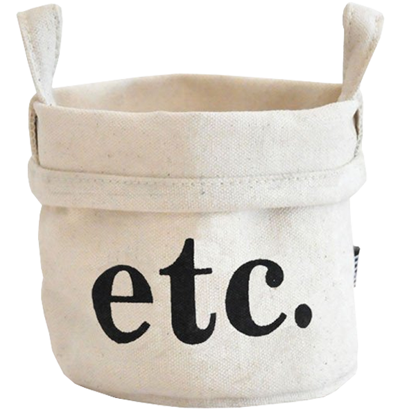 Etc. Recycled Canvas Bucket Large