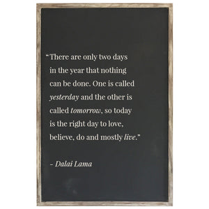 2X3' Two Days in the Year - Framed Wood Sign