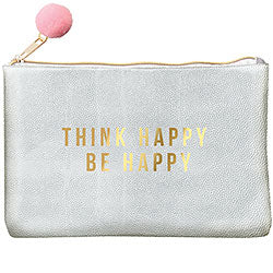 Think Happy Silver GC Pouch