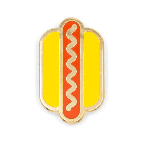 Hot Dog Enamel Pin