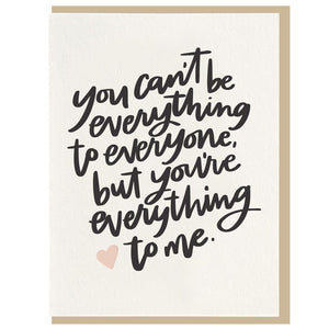 Everything To Me - Letterpress Card