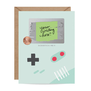 Inklings Paperie - Gamer Scratch-off Card