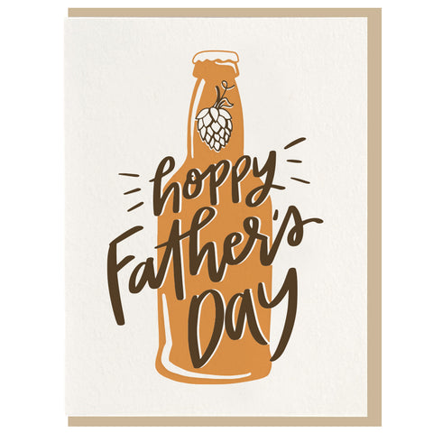 Hoppy Father's Day - Letterpress Card