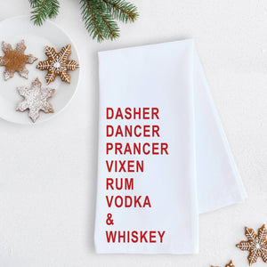 Rum Vodka & Whiskey Tea Towel
